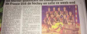 [Presse] Article dans le DL, annonce championnat U16